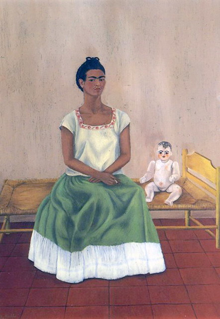 Frida Kahlo - Self-Portrait with bed - Me and my doll, 1937