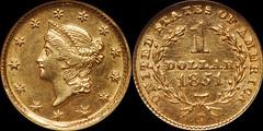 1851-D Gold $1.00 NGC MS63 | by RareGoldCoins.com