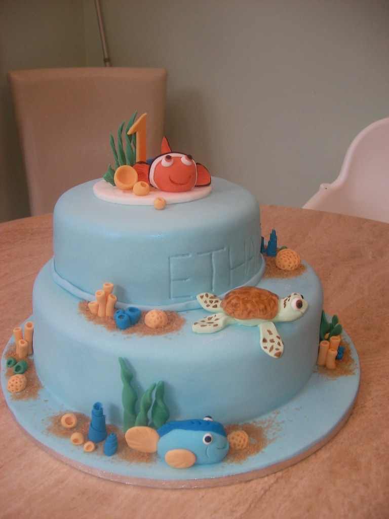 Admirable Finding Nemo Birthday Cake I Made This Cake For My Friend Flickr Funny Birthday Cards Online Elaedamsfinfo