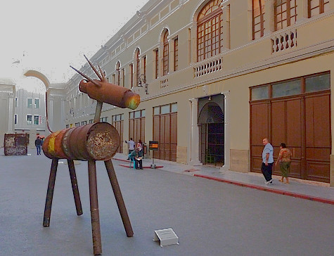 Mexico, state of Yucatan, Merida,   basurarte - trashmade art