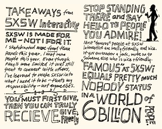 SXSW Interactive 2010: Takeaways 1 & 2 | by Mike Rohde