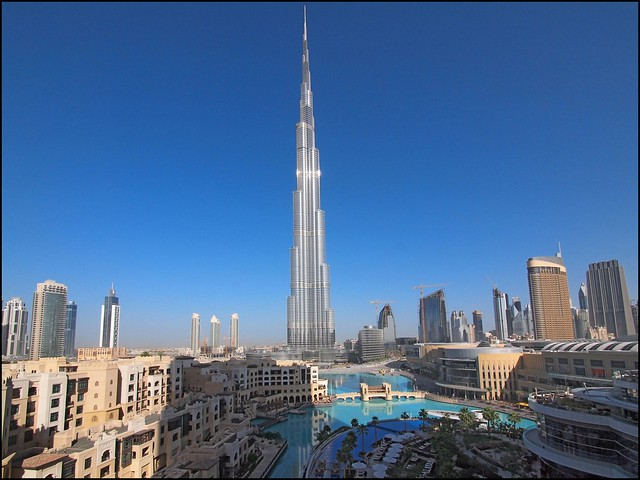 View from The Address Downtown Hotel Dubai