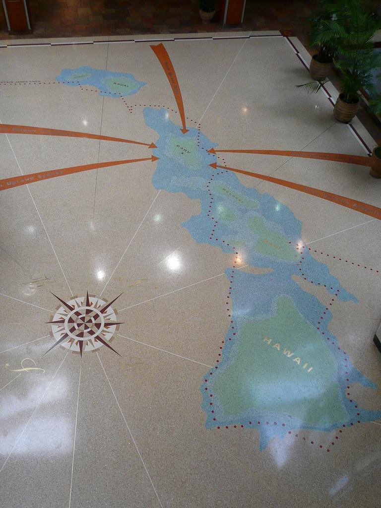 Aiea Hi Pearlridge Uptown Hawaii Terrazzo Map Pearlridge