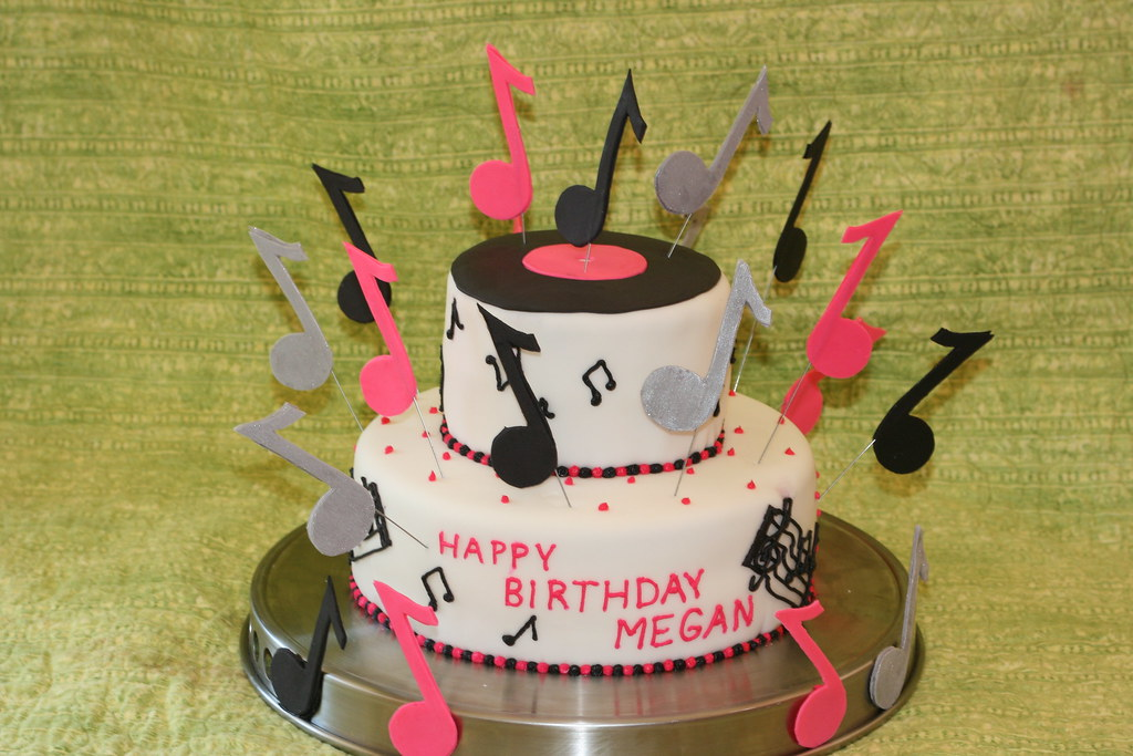 Astounding Rock And Roll Megans 9Th Birthday Cake Drj68 Flickr Birthday Cards Printable Opercafe Filternl