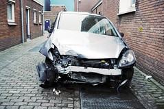 smashed-up car