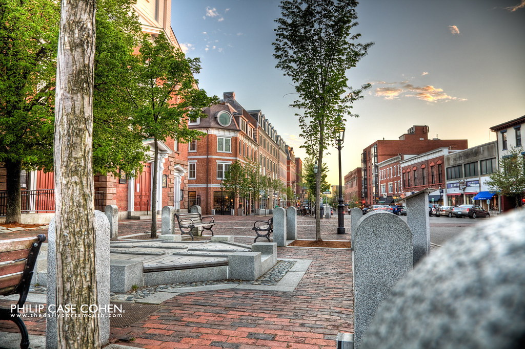 Street Scene on Congress Street by Philip Case Cohen