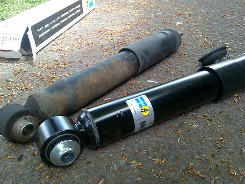 new vs old shock absorber