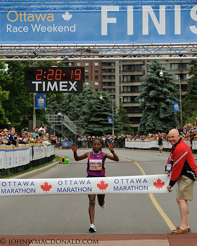 Merima Mohammed - Winner Ottawa Marathon | by johnwmacdonald