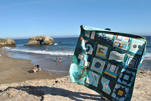 Mermaid Quilt on the beach | by mochistudios