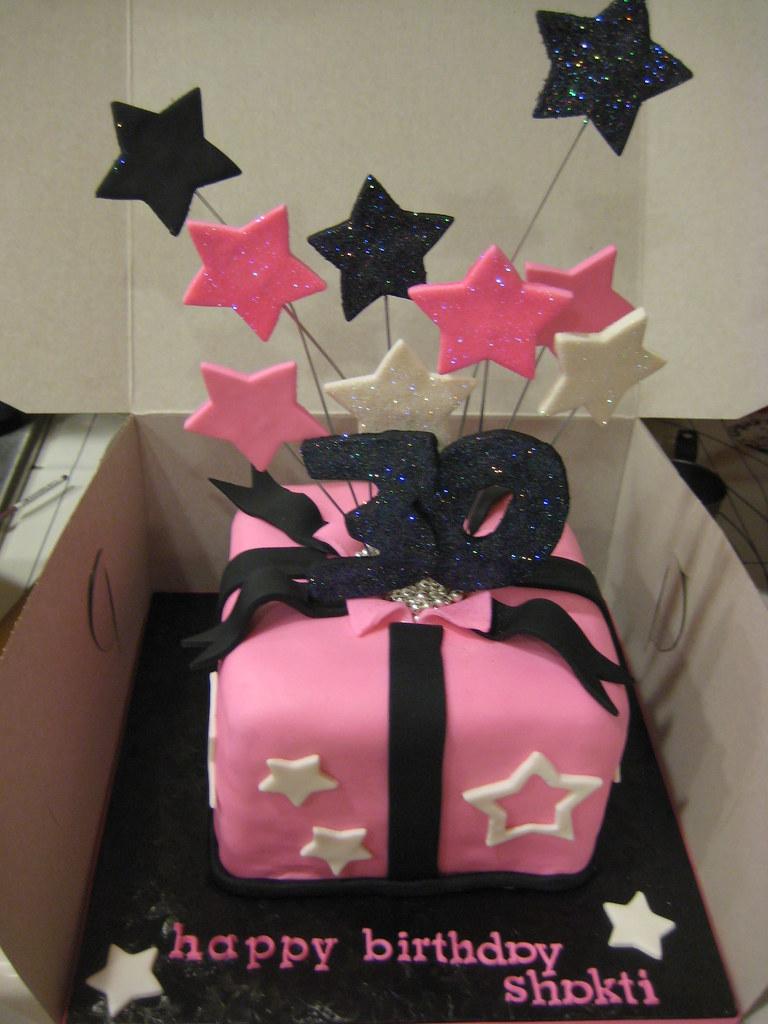 Incredible 30Th Birthday Cake Shooting Stars 6 Red Velvet Cake Dec Flickr Funny Birthday Cards Online Drosicarndamsfinfo
