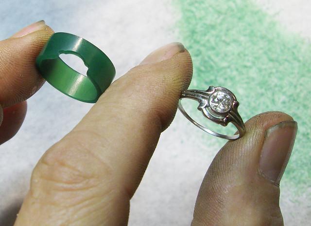 14K Paisley Diamond Wedding Ring / WIP / 3