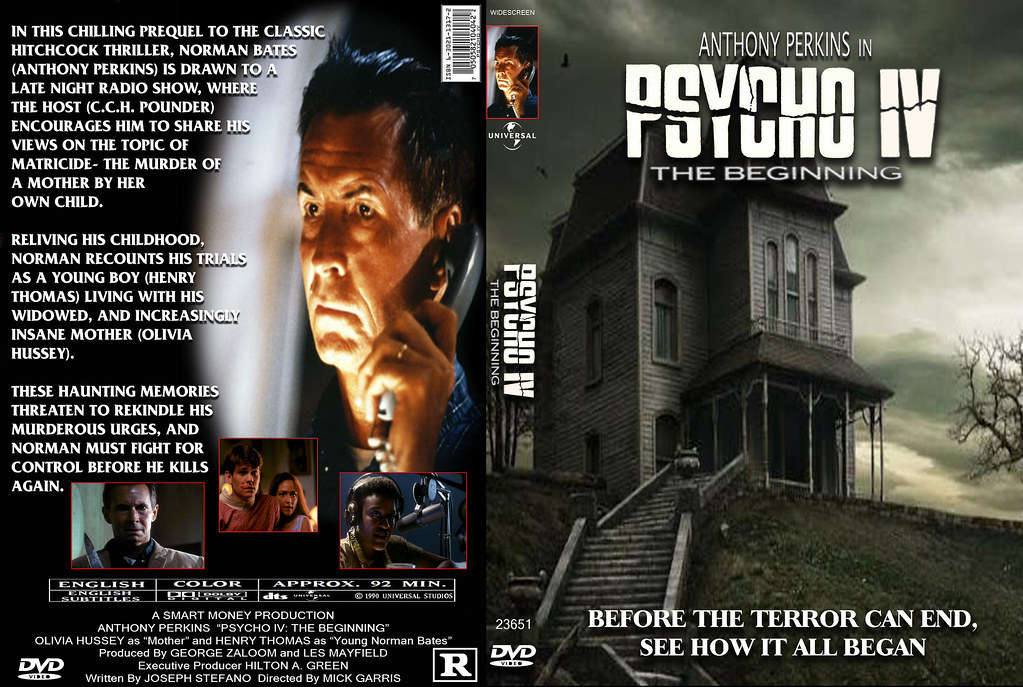 Psycho IV-A | A custom DVD cover for 'Psycho IV' I made in