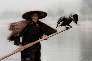 Li River Cormorant Fisherman, Yangshuo | by adventurocity