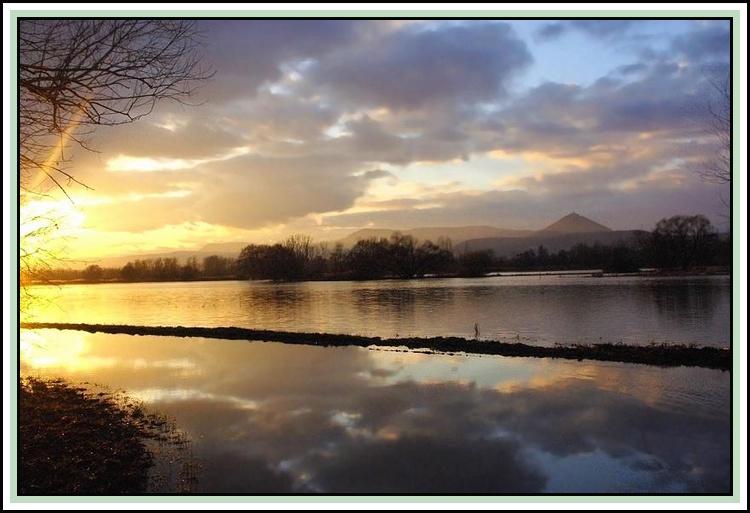 Flood and sunset2 (January 2010)