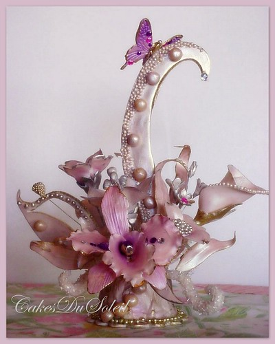 Art Nouveau Sugar Cake Topper