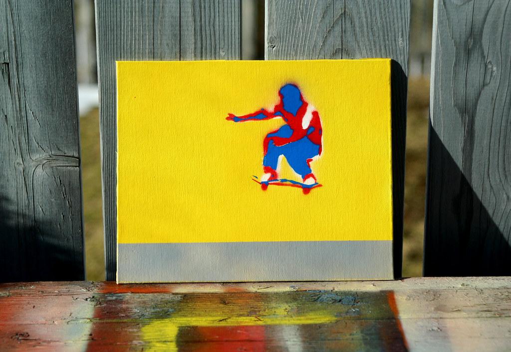 stencil - Mark Gonzales | Multi-layered stencil  Spray paint… | Flickr