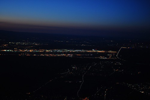 night sunrise aerial