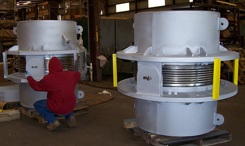 "44"" Hinged Expansion Joints with Refractory Lining"