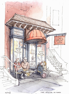 Cafe Regular du Nord   by James Anzalone