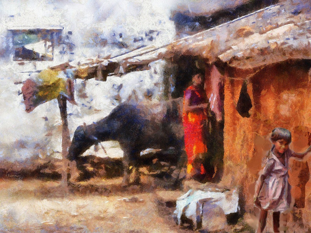 Village scene India | This painting is made with DAP and Cor… | Flickr