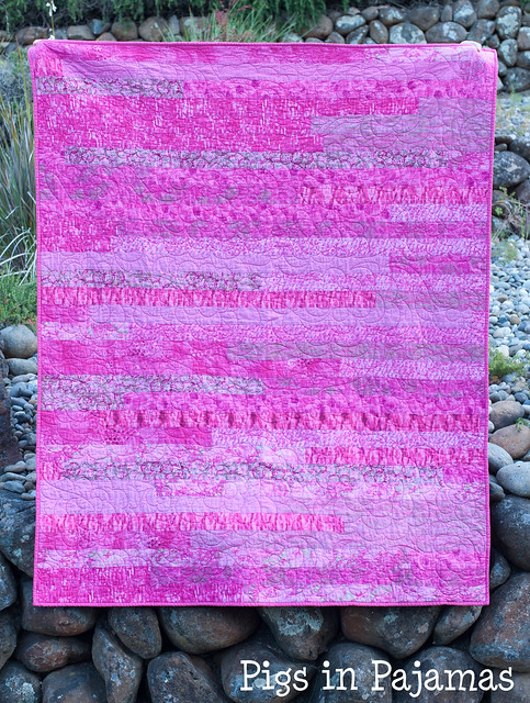 Baby Girl Pink Jelly Roll Race Quilt