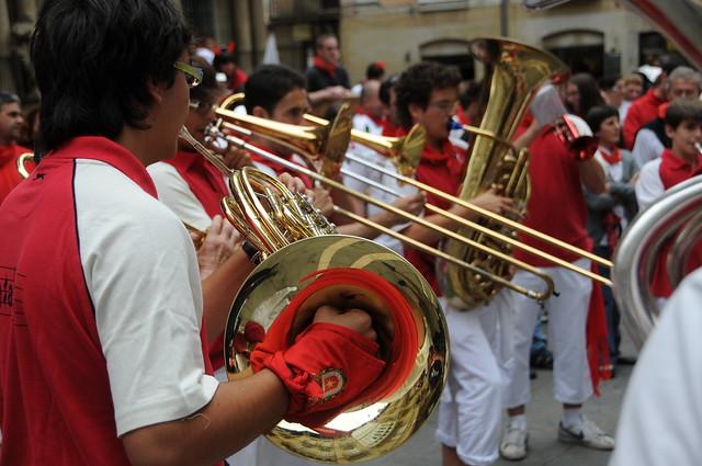 SAN FERMIN MUSICA EN LA CALLE