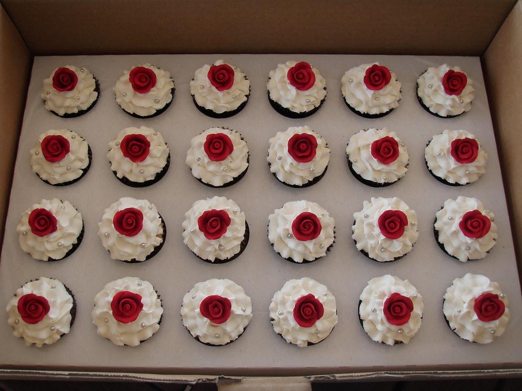 Mossy's masterpiece - Kiara's Wedding cupcakes.