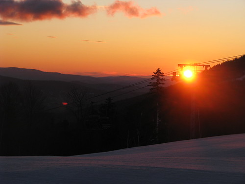 mountain snow ski sunrise lift snowboard gondola sundayriver chondola