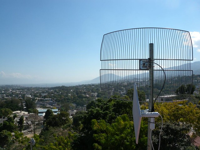 Save the Children Internet Antenna Overlooking Port-au-Pri… | Flickr