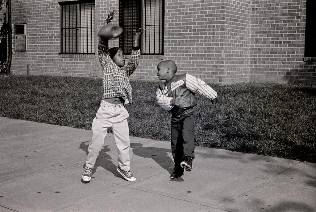 Boys Playing Catch (Or No-Catch), Washington, DC