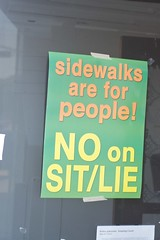 Sit Lie sidewalk protests or just some photos of the Mission 331 | by Steve Rhodes