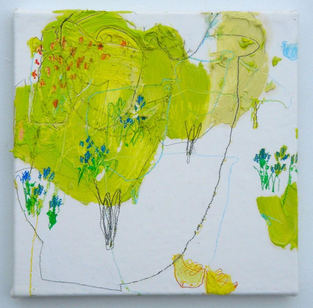Satsuki uta (2010) Oil on canvas, pencil 180x180mm | Flickr