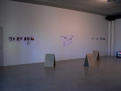 one wall of the exhibition