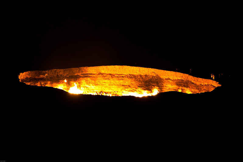 Gas Crater at Night
