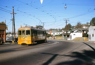 008 - LATL W Line Car 1386 Southbound On York Blvd. Near Branch St. 19541115 | by Metro Transportation Library and Archive