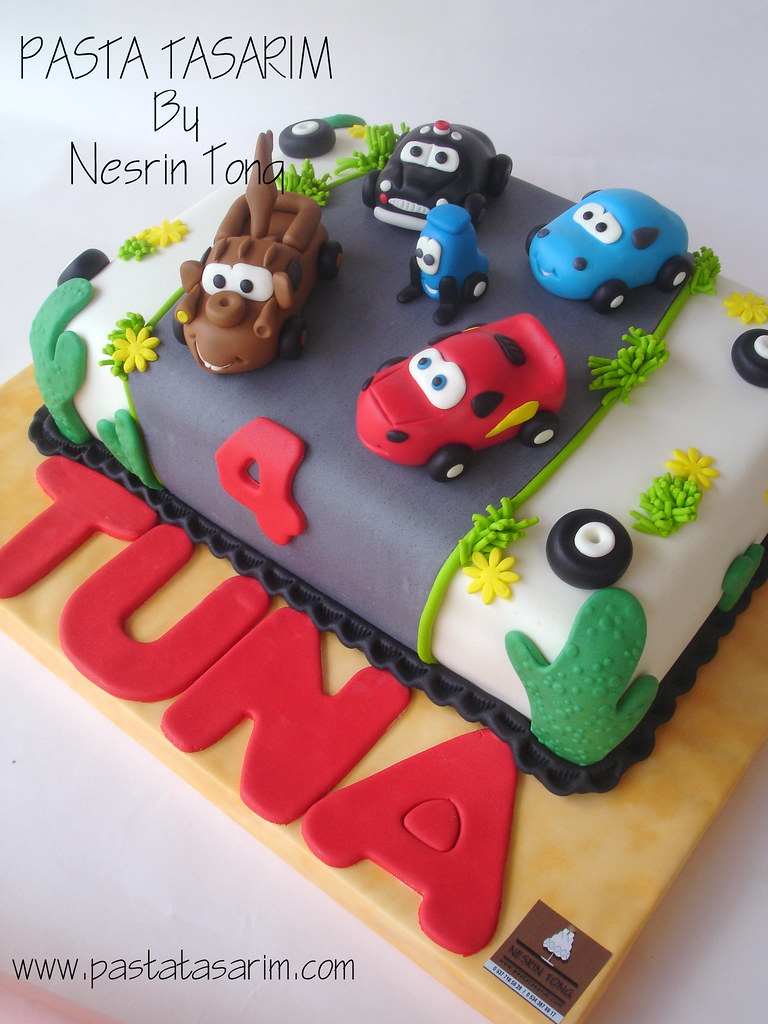 Terrific Disney Cars Birthday Cake Tuna Cake By Nesrin Tong Flickr Birthday Cards Printable Opercafe Filternl