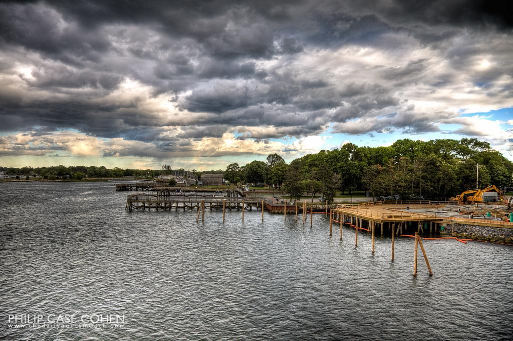 Rain & Clouds over Prescott Park by Philip Case Cohen