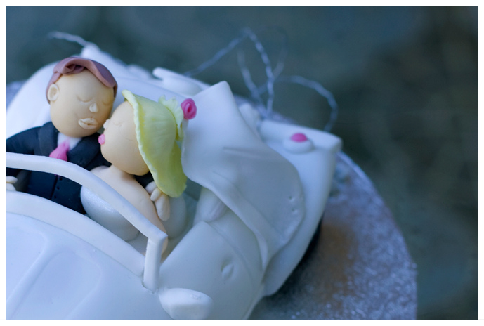 Bride and Groom beetle topper