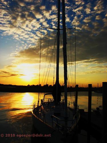 sunset sailboat harbor nc safe southport