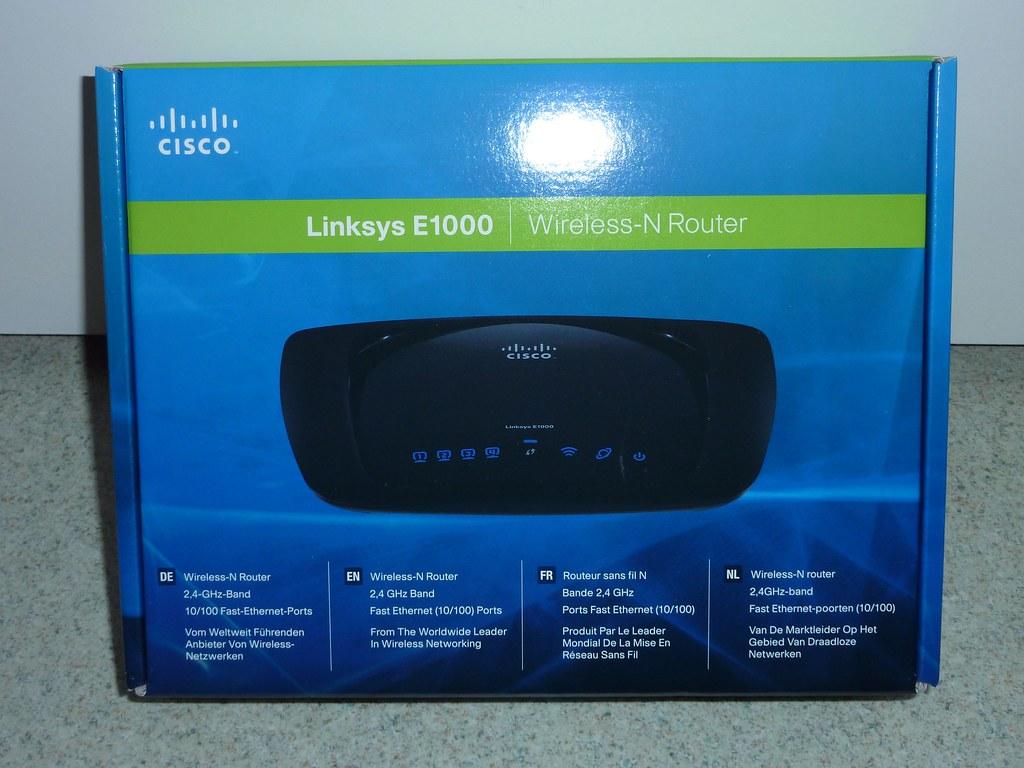 Deballage routeur Cisco Linksys E1000 (1)   Plus d'infos