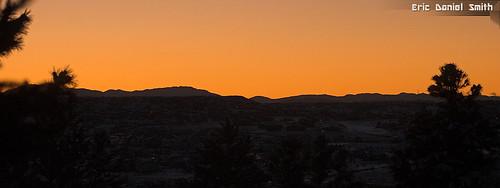 sunset mountains december parker coloradodouglascounty