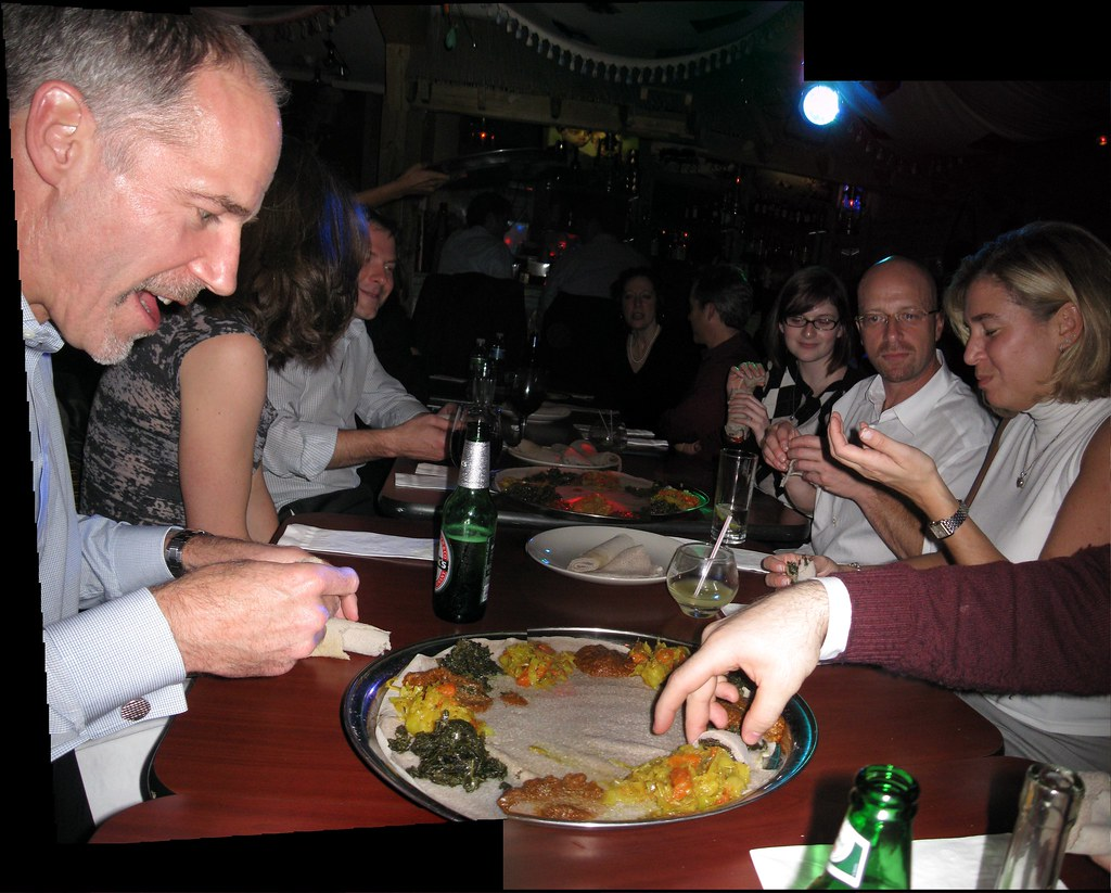 Watching people trying to eat Ethiopian food is fun  | Flickr