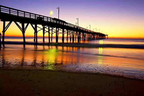 ocean sea sun beach water beautiful sunrise dawn pier nc sand top shell sail topsail