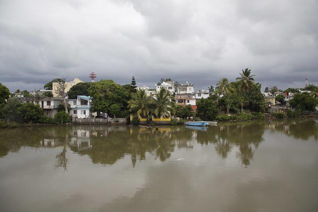View of Maheboug over the Le Chaux River, Mauritius