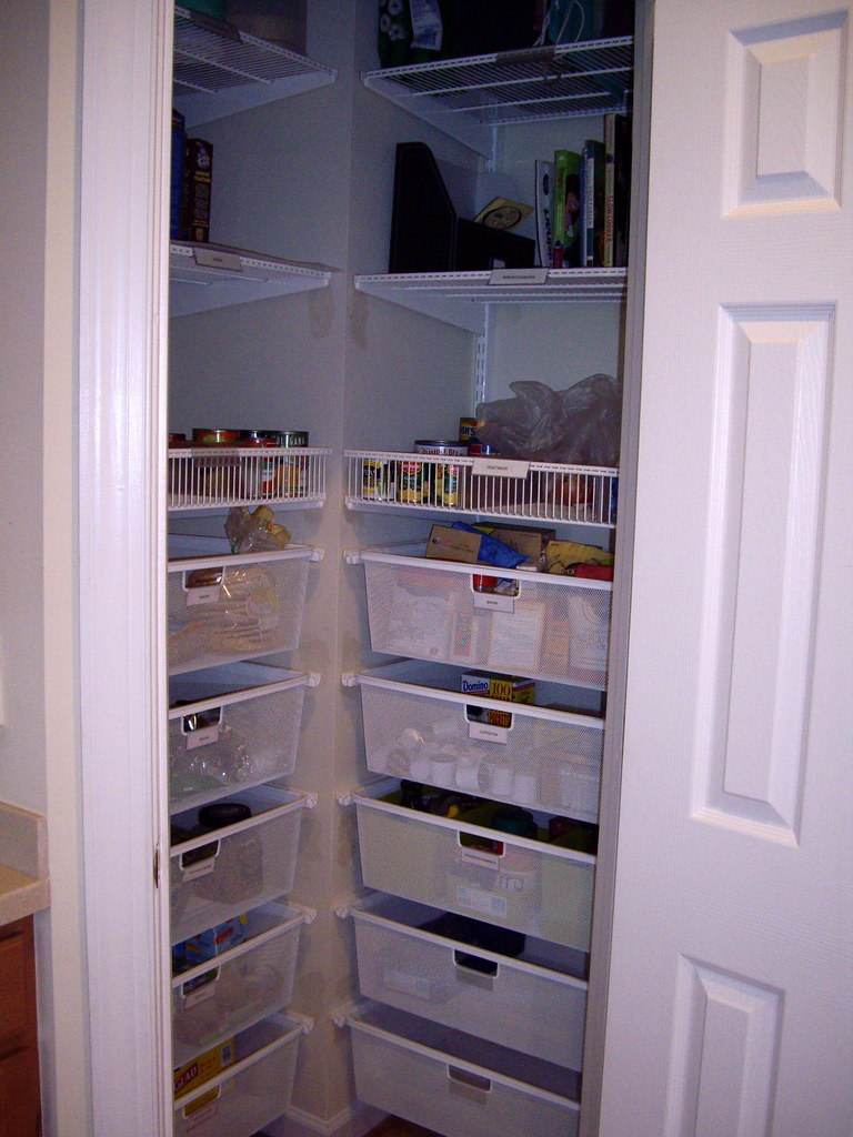 Pantry After After Installing Elfa System In Our Pantry E