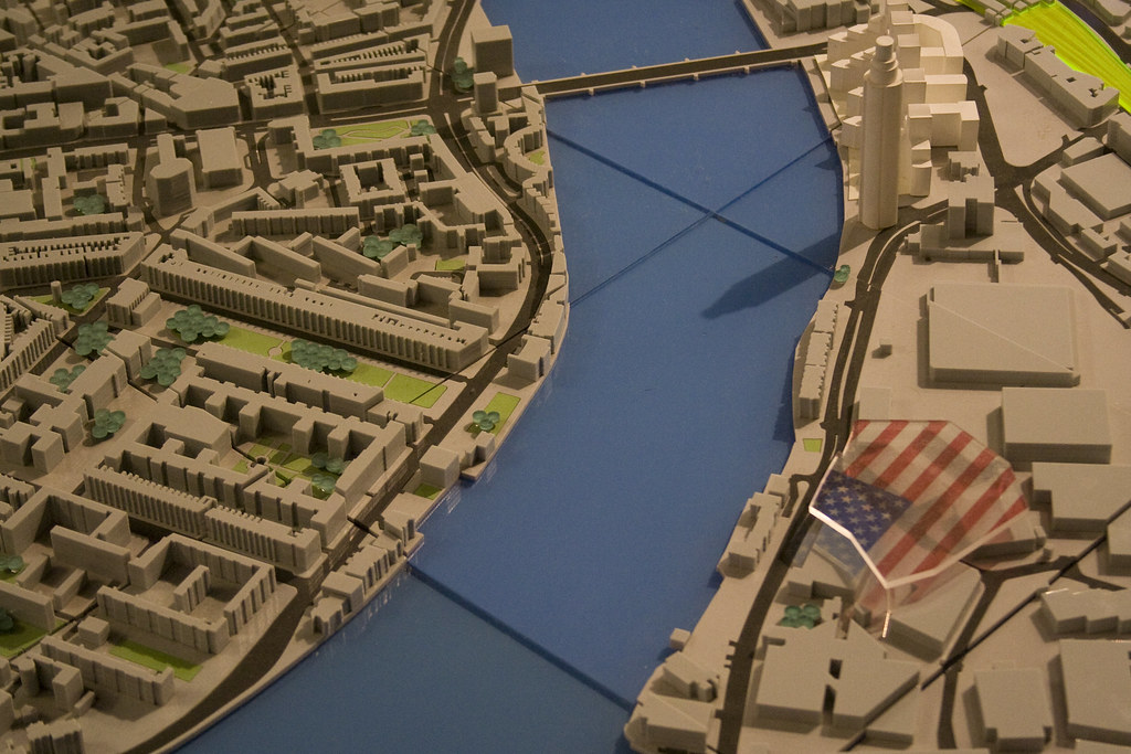 Model Map Of London New Embassy Site Us Embassy London Flickr - Us-embassy-london-map