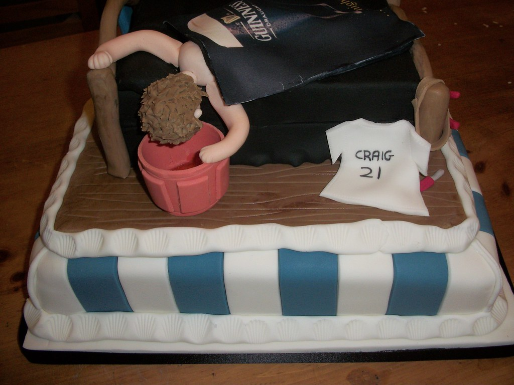 Enjoyable 21St Birthday Cake Another Delightfully Weird Request Flickr Personalised Birthday Cards Beptaeletsinfo
