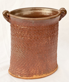 Handmade large brown vase