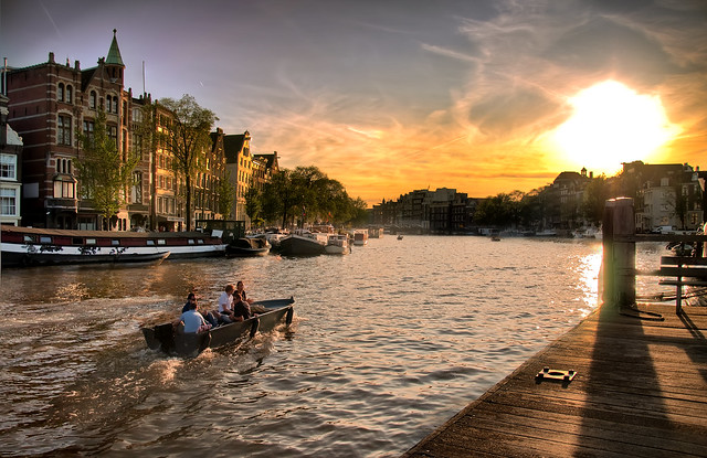 Sunset over Amsterdam (Frontpage)