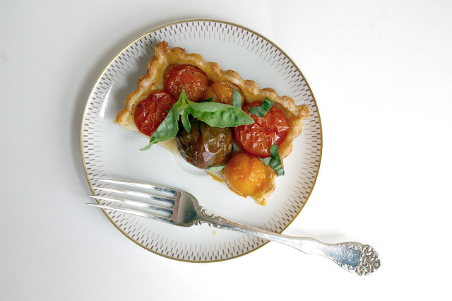Roasted Tomato Tart Sliced